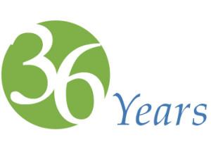 36 years logo